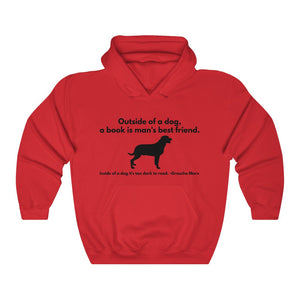 Dogs and Books Unisex Heavy Blend™ Hooded Sweatshirt