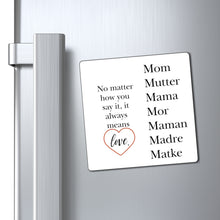Load image into Gallery viewer, Love Mom Magnet