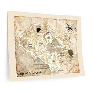 Voramis Map Wall Decals