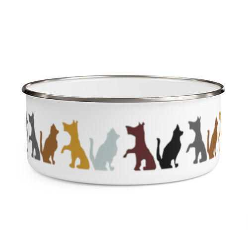 Cute Pets Enamel Bowl
