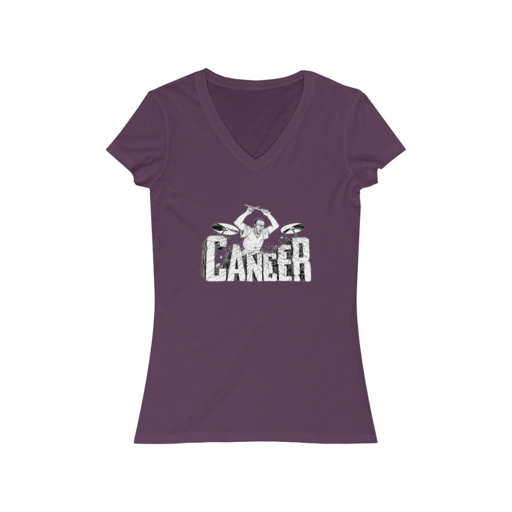 Beat Cancer Women's Jersey Short Sleeve V-Neck Tee
