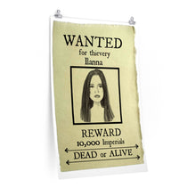 Load image into Gallery viewer, Wanted Poster ilanna Premium Matte vertical posters