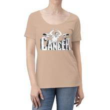 Load image into Gallery viewer, Beat Cancer Women's Scoop Neck T-shirt