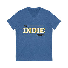 Load image into Gallery viewer, Go Indie Now Unisex Jersey Short Sleeve V-Neck Tee