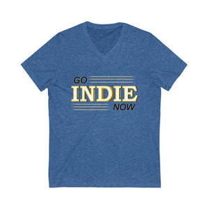 Go Indie Now Unisex Jersey Short Sleeve V-Neck Tee