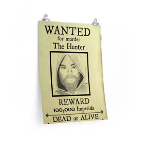 Wanted Poster The Hunter Premium Matte vertical posters