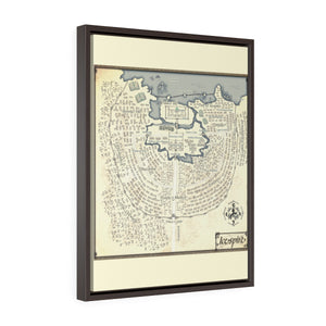 Icespire Map Vertical Framed Premium Gallery Wrap Canvas
