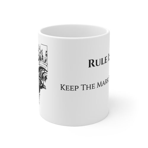 Rule 1 White Ceramic Mug
