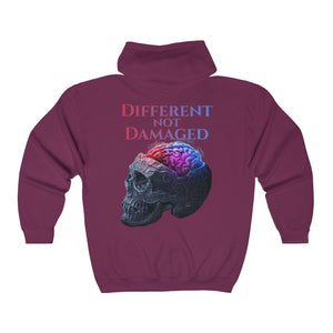 Different Not Damaged Big and Tall Unisex Heavy Blend™ Full Zip Hooded Sweatshirt