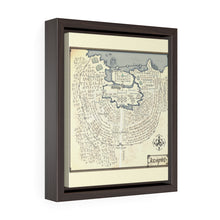 Load image into Gallery viewer, Icespire Map Vertical Framed Premium Gallery Wrap Canvas