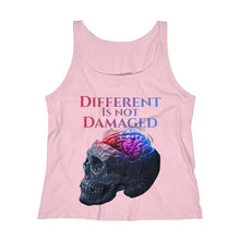 Load image into Gallery viewer, Different is not Damaged Women's Relaxed Jersey Tank Top