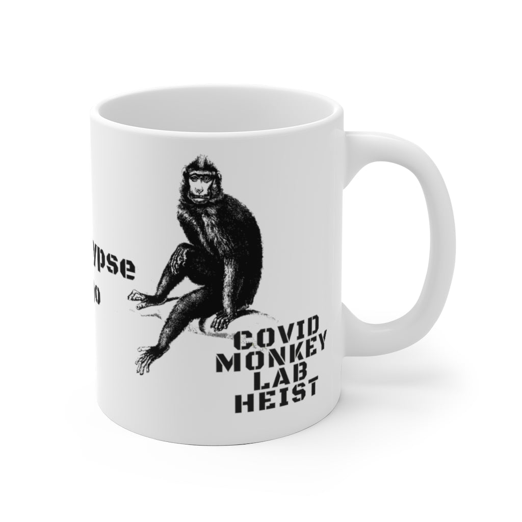 Covid Monkey Lab Heist Ceramic Mug