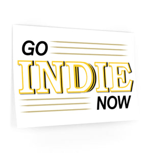 Go Indie Now Wall Decals