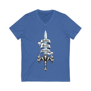 Sword of Cerberus Unisex Jersey Short Sleeve V-Neck Tee