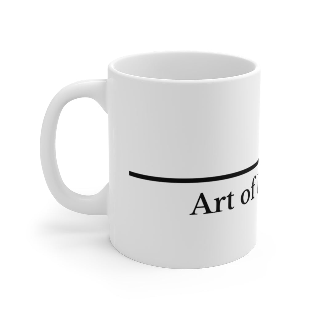 Art of Lying White Ceramic Mug