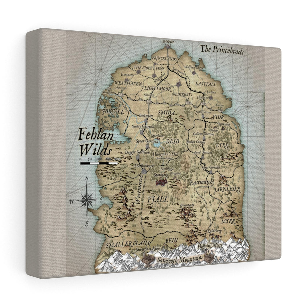 Fehlan Wilds Map Canvas Gallery Wraps
