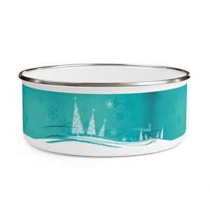 Winter Postcard Enamel Bowl