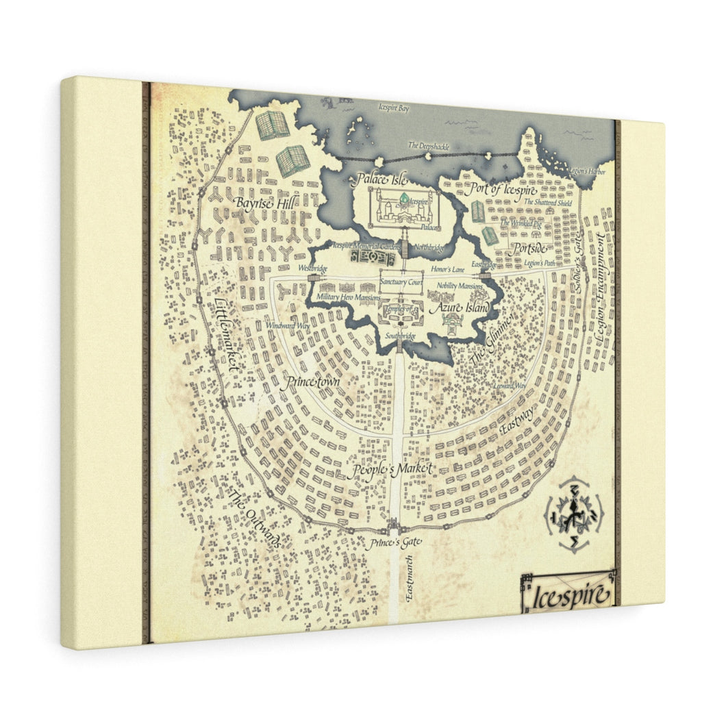 Icespire  Map Canvas Gallery Wraps