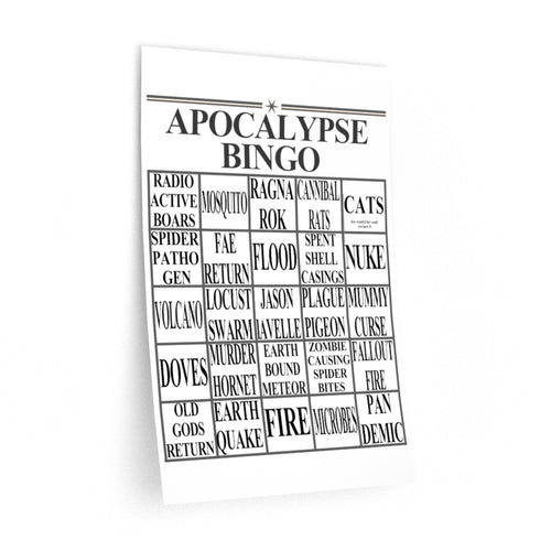 Apocalypse Bingo Wall Decals
