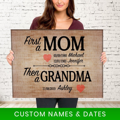 FIRST A MOM PREMIUM CANVAS