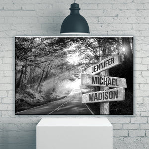 Autumn Road Multi-Names Premium Canvas