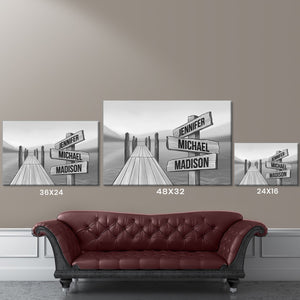 Lake Dock Art Multi-Names Premium Canvas