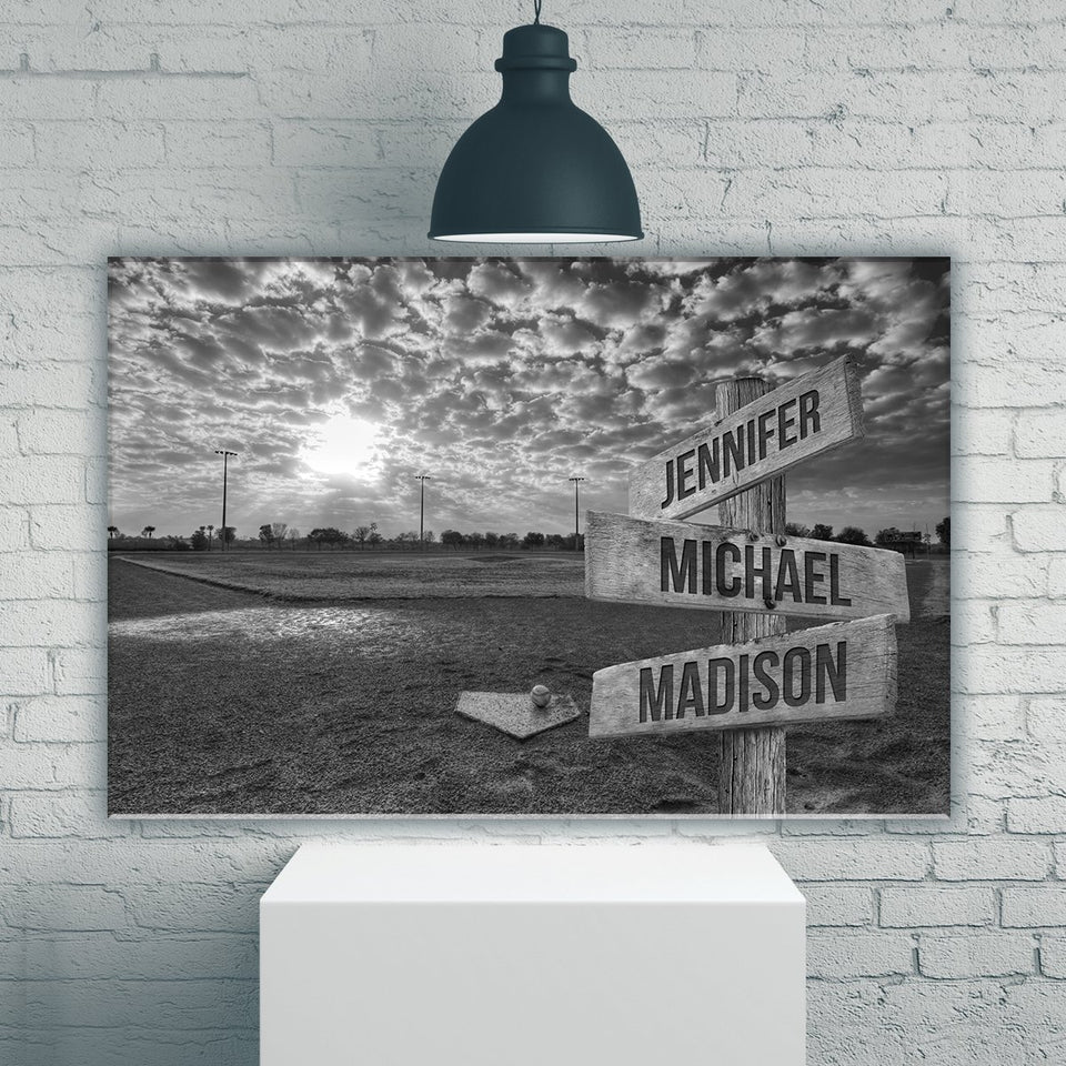 Baseball Field Multi Names Premium Canvas