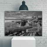 Candy Skies Multi-Names Premium Canvas