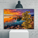 Candy Skies Color Multi-Names Premium Canvas