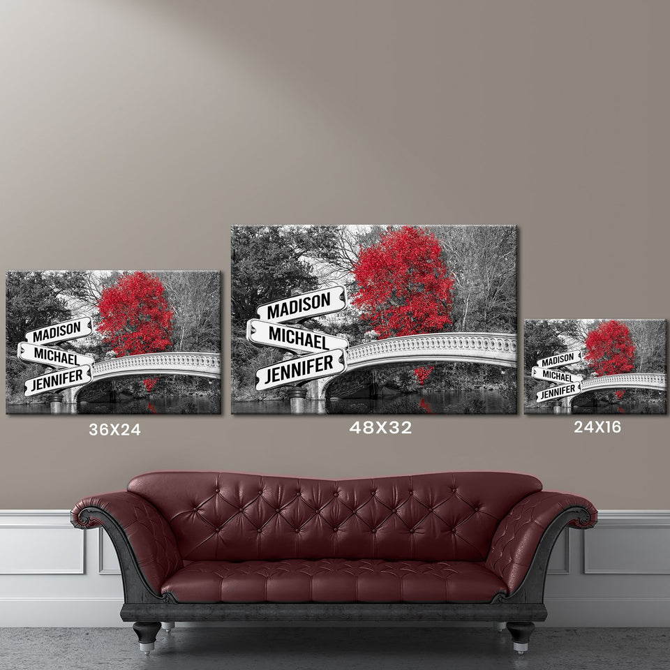 Central Park Multi-Names Premium Canvas
