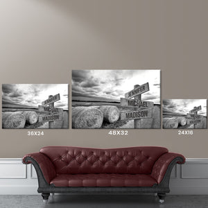 Country Road Multi-Names Premium Canvas
