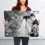 Custom Image Wooden Sign Premium Canvas
