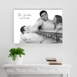 Family Blend Ocean Dock Name Premium Canvas