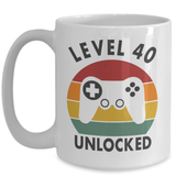 Retro Level Unlocked Mug