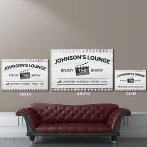 Lounge Names Premium Canvas