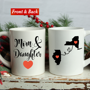 Mom & Daughter State Mug