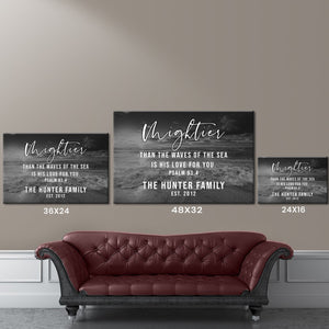 Ocean Sunset - Psalm 93-4 Premium Canvas