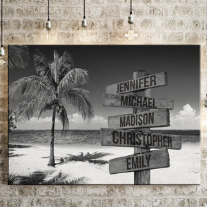 Ocean Breeze Multi-Names Premium Canvas
