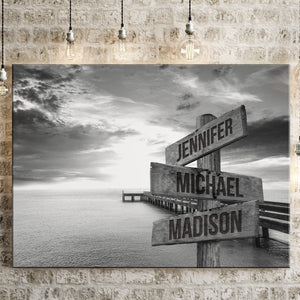 Ocean Dock Multi-Names Premium Canvas