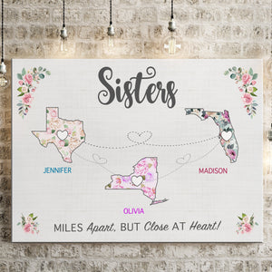 Sister State Floral Premium Canvas
