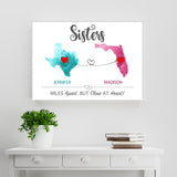 Sister State Watercolor Premium Canvas