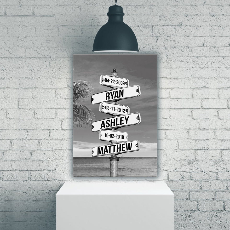 Street Sign Names Premium Canvas