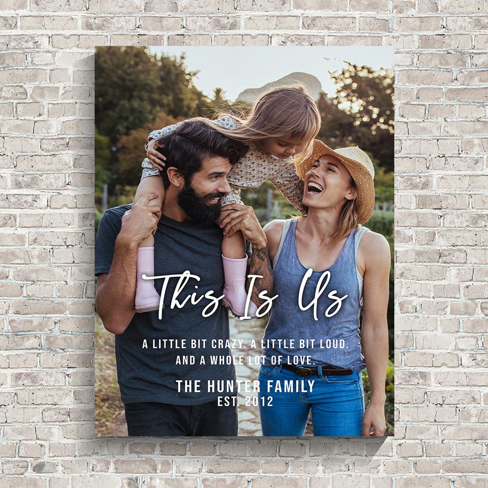 This is Us Family Photo Premium Canvas