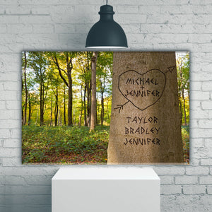 Family Tree Names Color Premium Canvas