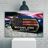 Veteran Name Premium Canvas