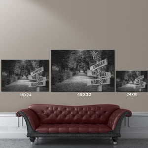 Woods Path Multi-Names Premium Canvas 2