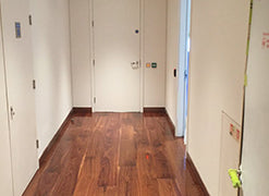 American walnut flooring in Canary Wharf Developments