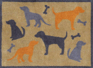 Dog and Bone Door Mat