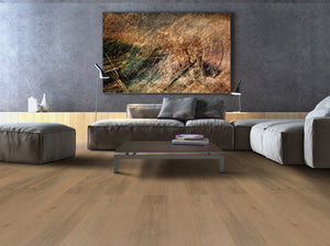 Fawn EIR AC4 Laminate Flooring with Built-In EIR Backing | Living Room
