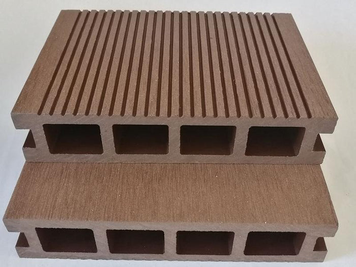 Chocolate Brown Ribbed Composite Decking